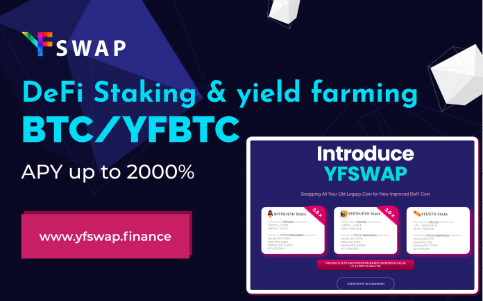 YFSwap to Turn Tradition Cryptocurrencies into High Yield DeFi Tokens